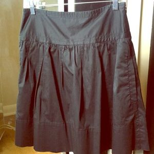 BCBG Max Azria sateen circle skirt. Sz 4. Pockets!